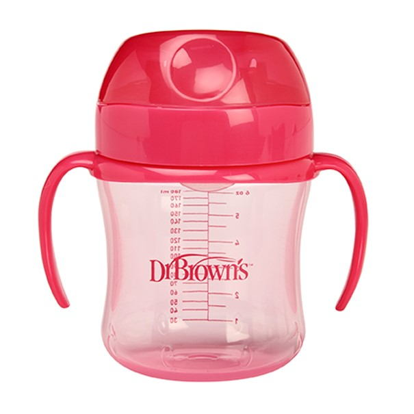 Taza Educativa Dr Brown´s 180 ml Rosa