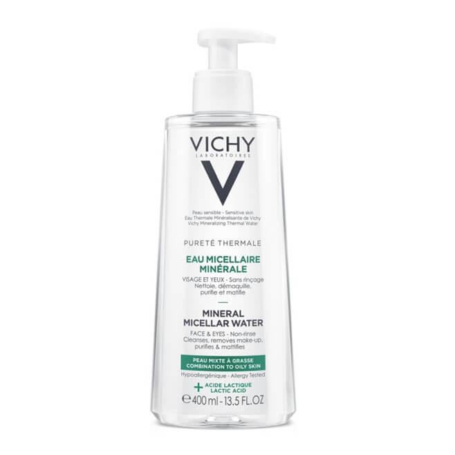 Vichy Purete Thermale Agua Micelar Mineral Piel Mixta a Grasa 400ml