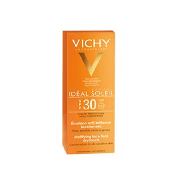 Vichy Ideal Soleil spf 30 emulsion facial acabado seco 50ml