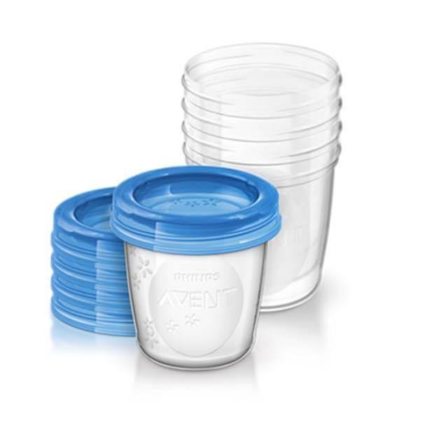 Avent vasos de almacenamiento de leche materna 5 vasos de 180ml
