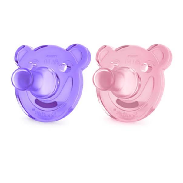 Avent soothie chuepte ortodontico rosa 2 unidades 0-3 meses
