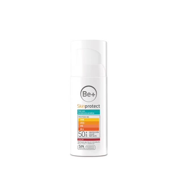 Be+ Skin Protect piel con tendencia acneica color spf50+ 50 ml