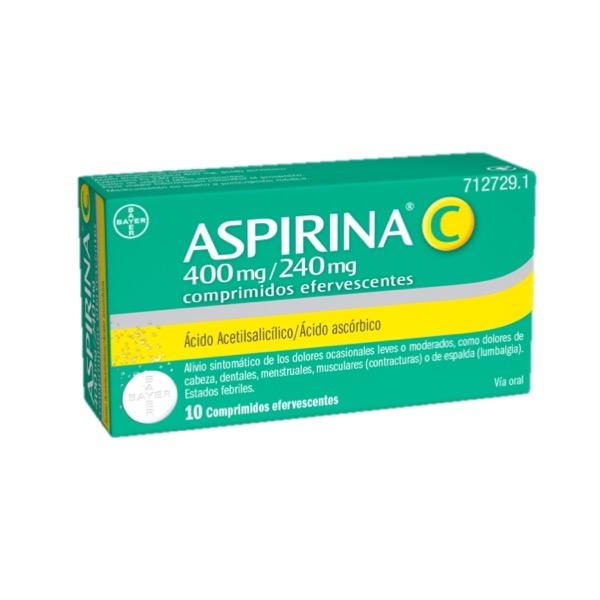 Aspirina C efervescente 10 comprimidos