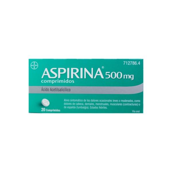Aspirina Adultos 20 Comprimidos