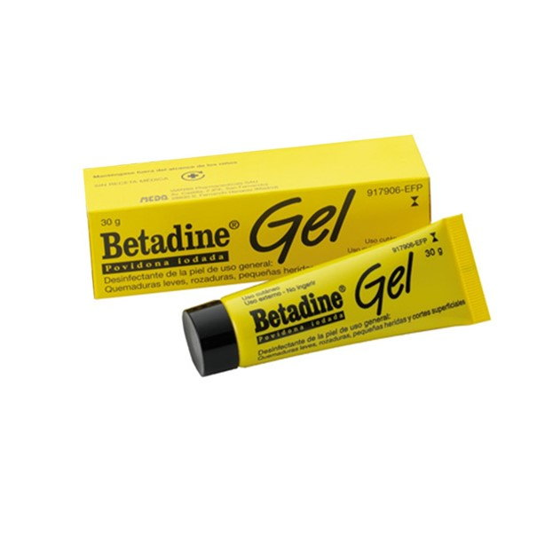 Betadine gel 30 gramos