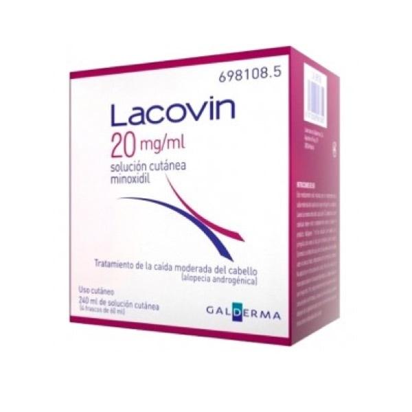 Lacovin Solucion Capilar 2% 4 Envases de 60 ml