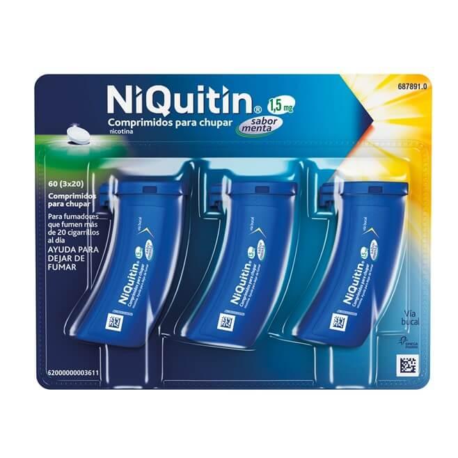 Niquitin 1,5mg 60 Comprimidos Para Chupar Sabor Menta