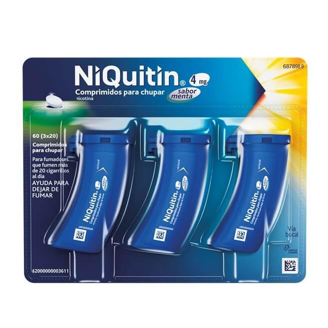 Niquitin 4mg 60 Comprimidos Para Chupar Sabor Menta