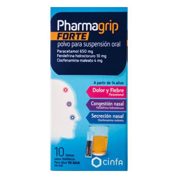 Pharmagrip Forte 10 Sobres Sabor Naranja