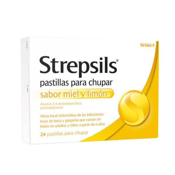 Strepsils miel y limon 24 pastillas para chupar