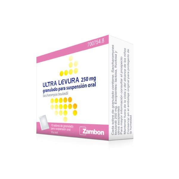 Ultra levura 250 mg 10 sobres
