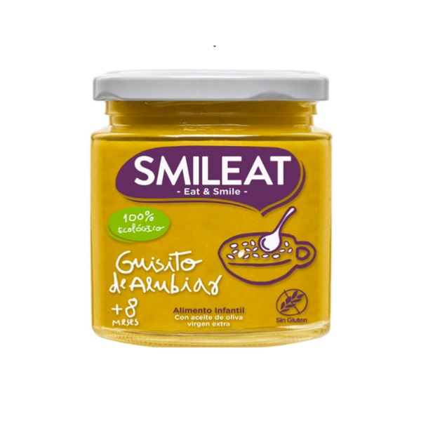 Smileat tarrito ecologico guisito de alubias +8m 230g